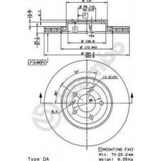 Disk kocioni prednji ALFA 147/156