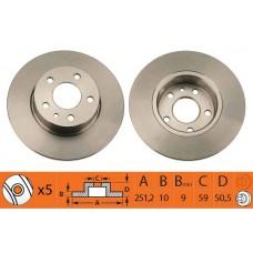 Disk kocioni zadnji Alfa 147/156  5/98