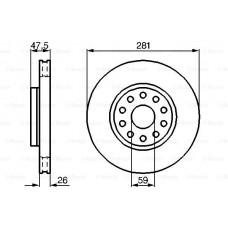 Disk kocioni prednji ALFA 164/166 Kapa