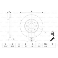 Disk kocioni prednji Panda 169/500