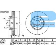 Disk kocioni prednji Grande Punto 1.3/PAR