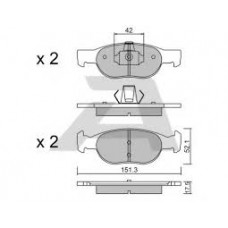 Plocice prednje Punto1.2 16V,benzin