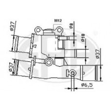 Termostat FIAT 1.6 16V 6504