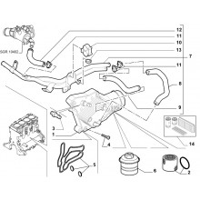 Dihtung gumice hladnjaka ulja 159/Croma 1.9 mjet